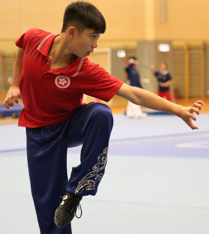 Nanquan athlete Hong Kong Wushu Team 2014